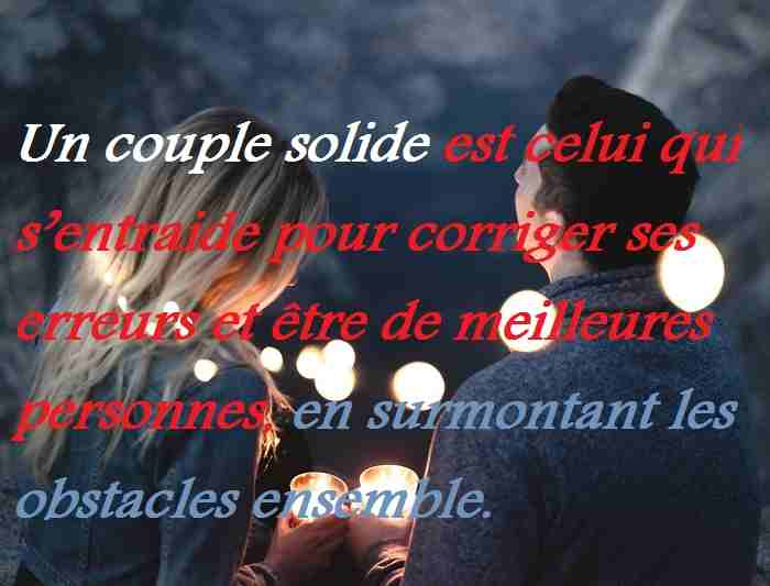 Un couple solide